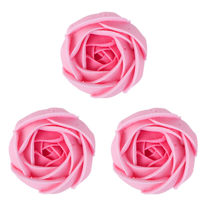 Peony Bud Royal Icing Decorations (Bulk) - Pink