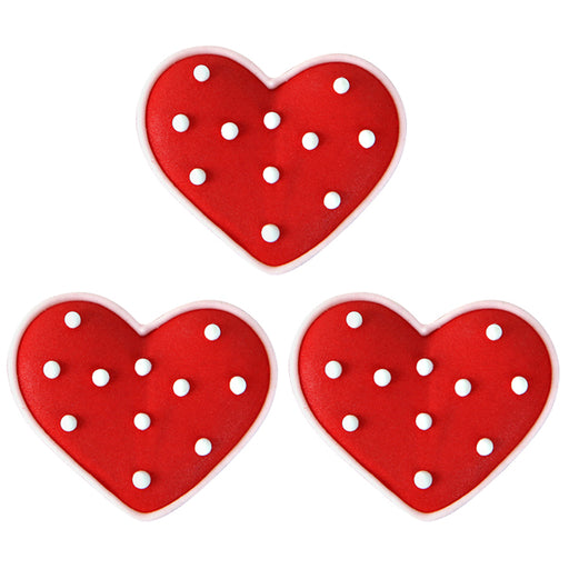 Icing Hearts With Dots Royal Icing Decor