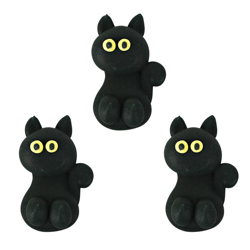 Black Cat Royal Icing Decorations (Bulk)
