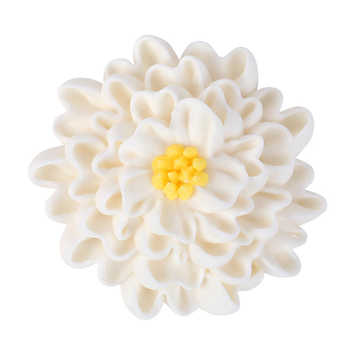 4-Layer Daisy Royal Icing Decorations (Bulk) -White