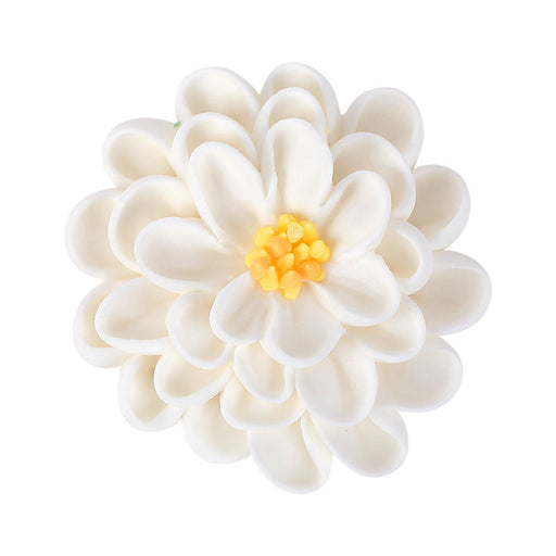 3-Layer Daisy Royal Icing Decorations (Bulk) -White