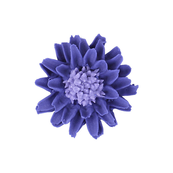 Fantasy Flower Royal Icing Decorations (Bulk) - Purple