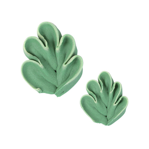 Fantasy Leaf Royal Icing Decorations (Bulk) - 2 Sizes