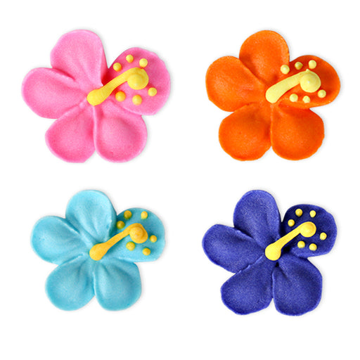 Hibiscus Royal Icing Decorations (Bulk)
