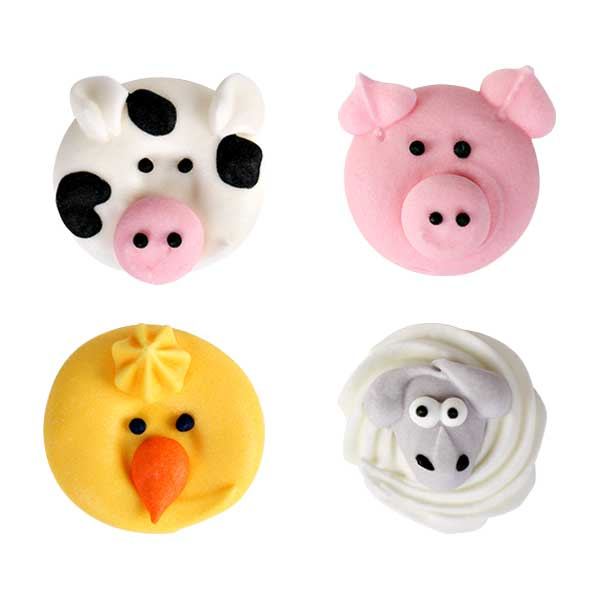 Farm Animal Assortment Royal Icing Decorations (Bulk)