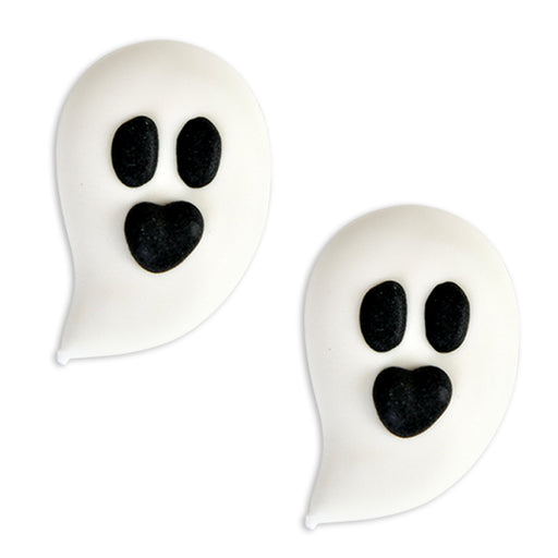 Ghost Face Royal Icing Decorations (Bulk)