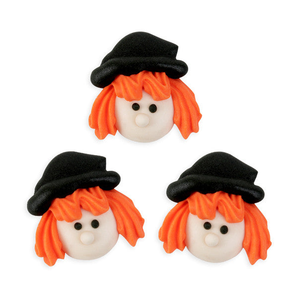 Witch Face Royal Icing Decorations (Bulk)