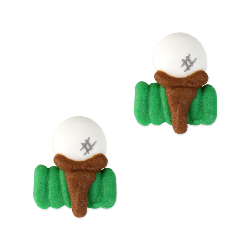Golf Ball Royal Icing Toppers great for decorating cupcakes, cookies, cakes, candy and chocolates.