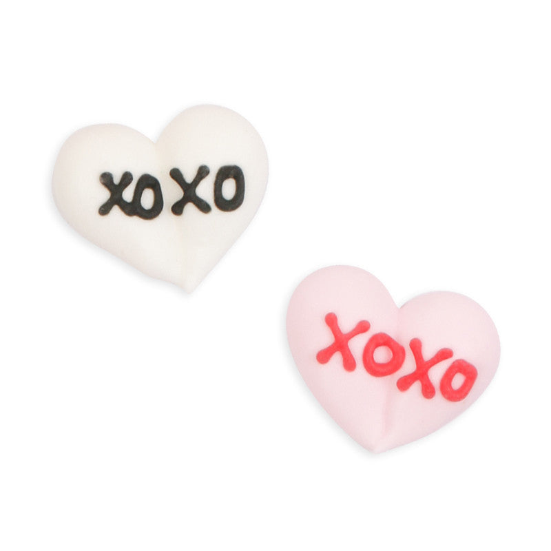 XOXO Hearts Royal Icing Decorations (Bulk)