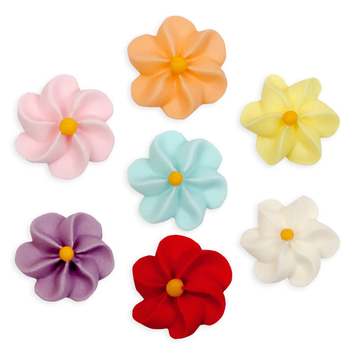 Large Drop Flower Royal Icing Decorations (Bulk) - Assortment