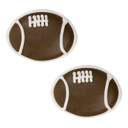 Large Football Royal Icing Decorations (Bulk)
