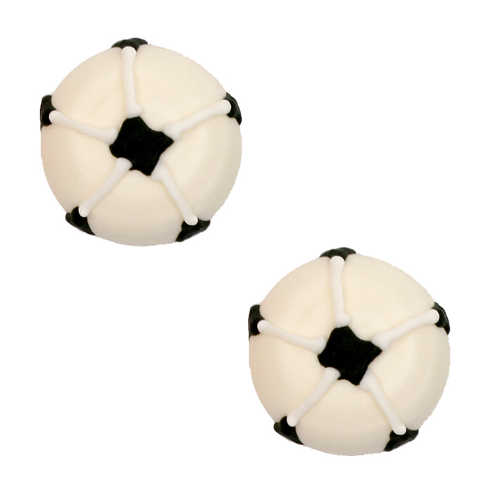 Soccer Ball Royal Icing Decorations (Bulk)