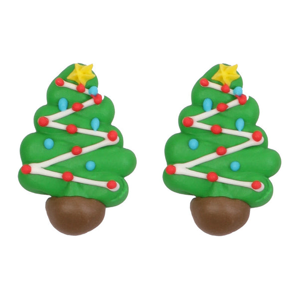 Christmas Tree 2 Royal Icing Decorations (Bulk)