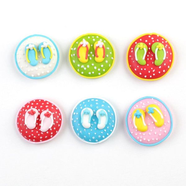 Fun Flip Flops Icing Decorations