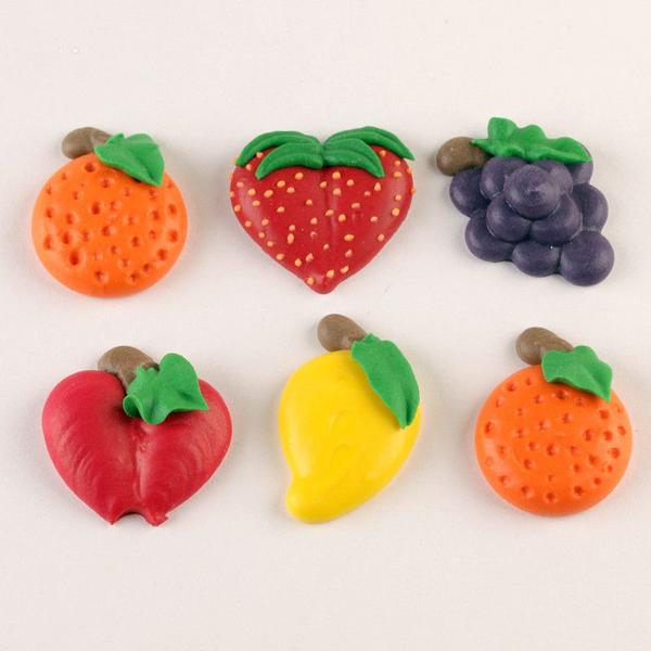 Fruit Set Royal Icing Decorations (Bulk)