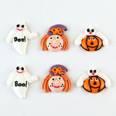 Happy Halloween Royal Icing Decorations