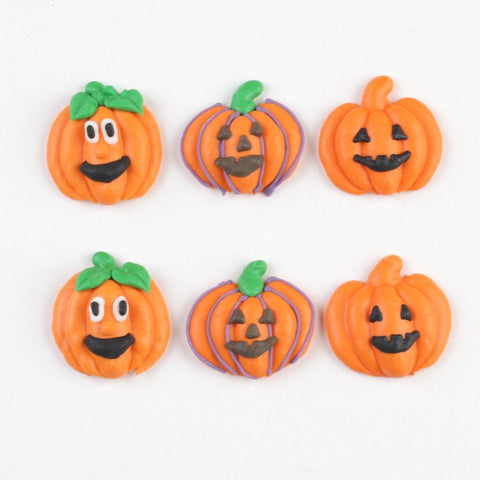 Jack-O-Lantern Royal Icing Decorations