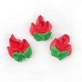 Rosebud Royal Icing Decorations - Red