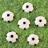 Royal Icing Soccer Cupcake Topper Decorations perfect for cake decorating boy's birthday cupcakes.