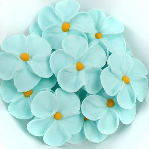 Forget Me Not Royal Icing Decorations - Blue