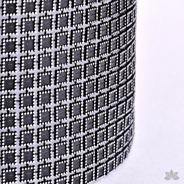 Add bling to your cake with Glam Ribbon Diamond Cake Wraps. Perfect for cake decorating rolled fondant cakes & wedding cakes. Cake decoration. Diamond Mesh. Black Square Luxury Glam Ribbon - Cake Wrap