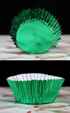 Foil Baking Cups - Green