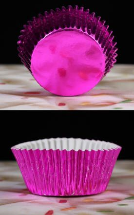 Foil Baking Cups - Hot Pink