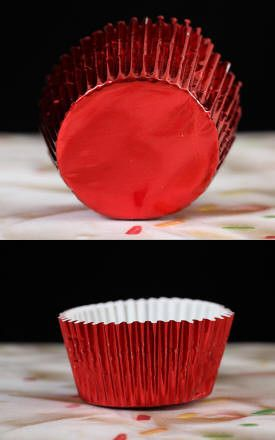 Foil Baking Cups - Red