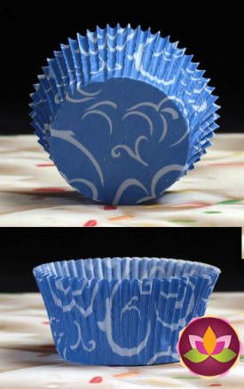 Arabesque Baking Cups - Blue