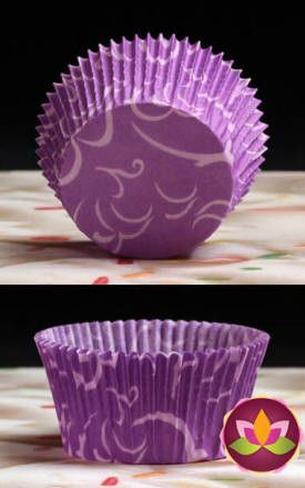 Arabesque Baking Cups - Purple