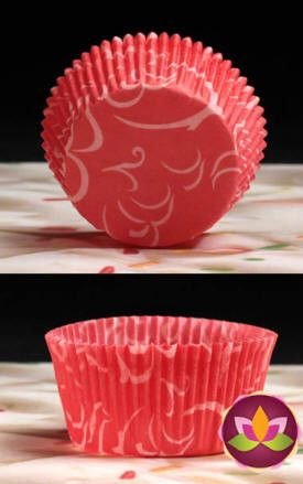 Arabesque Baking Cups - Red