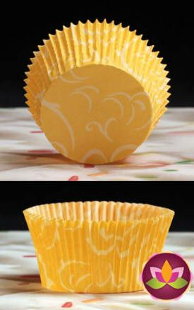 Arabesque Baking Cups - Yellow