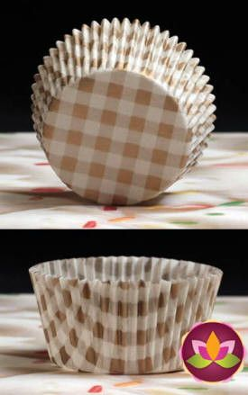 Gingham Baking Cups - Gold
