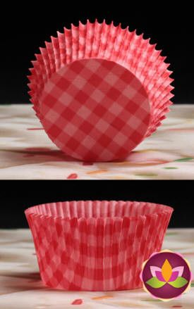 Gingham Baking Cups - Red