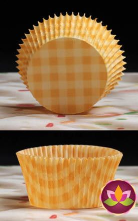 Gingham Baking Cups - Yellow
