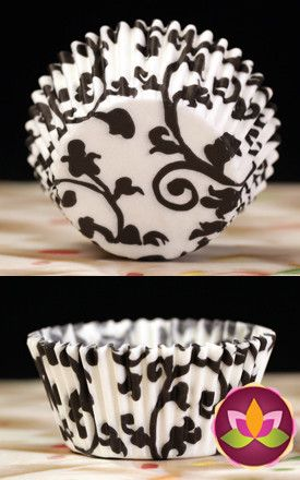 Ivy Baking Cups - Black