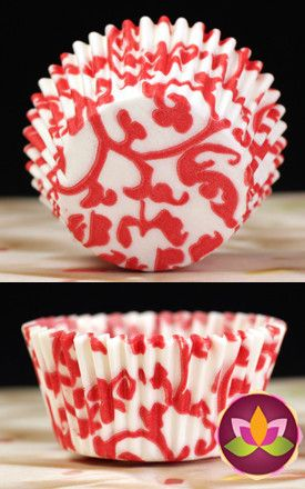 Ivy Baking Cups - Red
