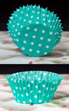 Polka Dots Baking Cups - Green