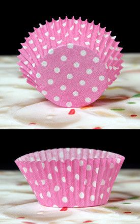 Polka Dots Baking Cups - Pink & White