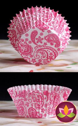 Paisley Baking Cups - Hot Pink