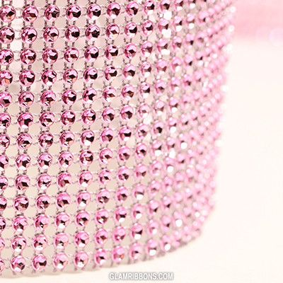 Pink Glam Ribbon - Cake Wrap