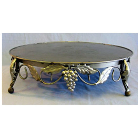Ivory Gold Bordeaux Round Cake Stand