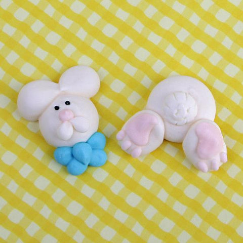 Bunny Tail & Face Royal Icing Decorations (Bulk)