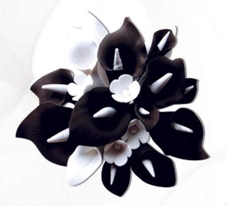 Floral spray cake toppers caljavaonline medium black white calla lily cake topper mightylinksfo Image collections