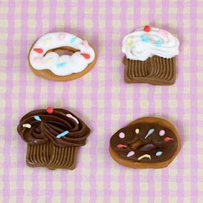 Sweet Sets of Donuts and Cupcakes