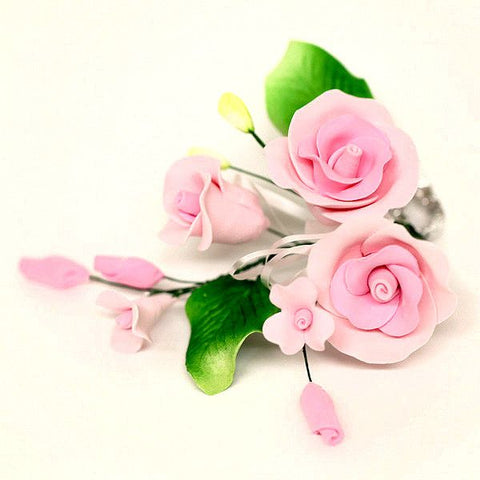 Three Small Tea Rose Sprays - Pink