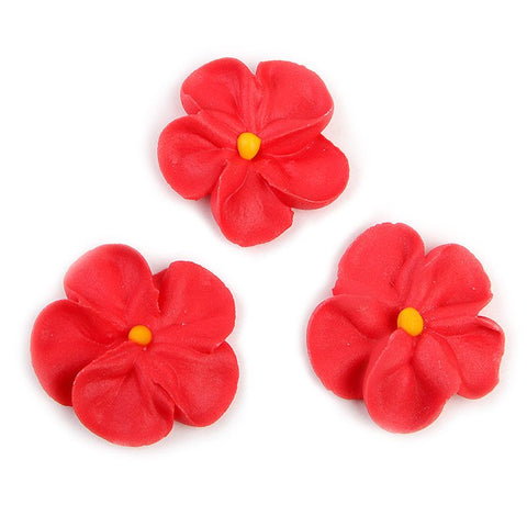 Forget Me Not Royal Icing Decorations - Red