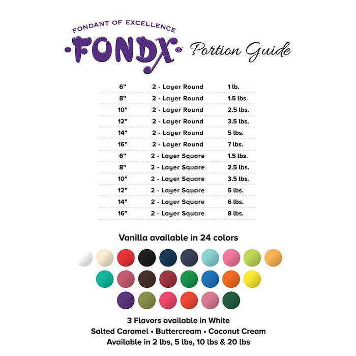 FondX Rolled Fondant - Virgin White