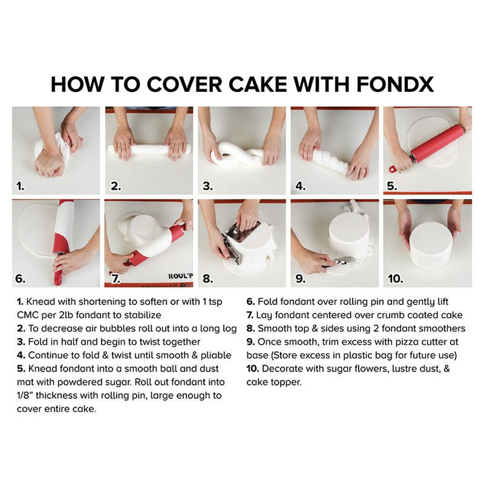 Rolled Fondant by FondX best fondant for cake decorating your own wedding cakes and birthday cakes. Best fondant for professionals and hobbyists.