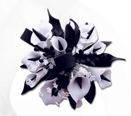 White & Black Calla Lily Cake Topper
